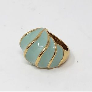 Coach Enamel Shell Domed Ring